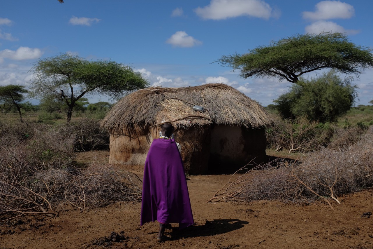 Ein Massai Lehmhaus