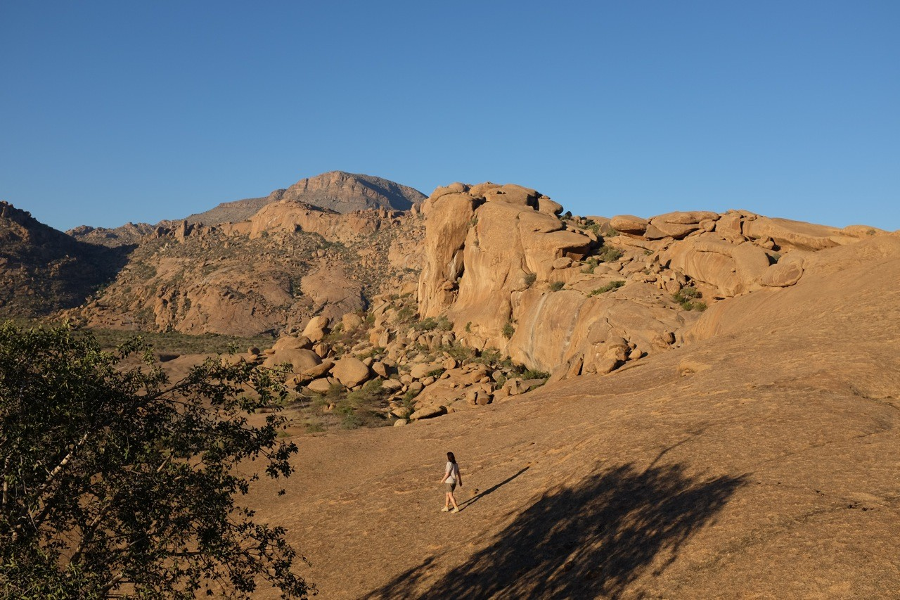 Im Hintergrund Elephant's Head, Ameib Ranch Namibia