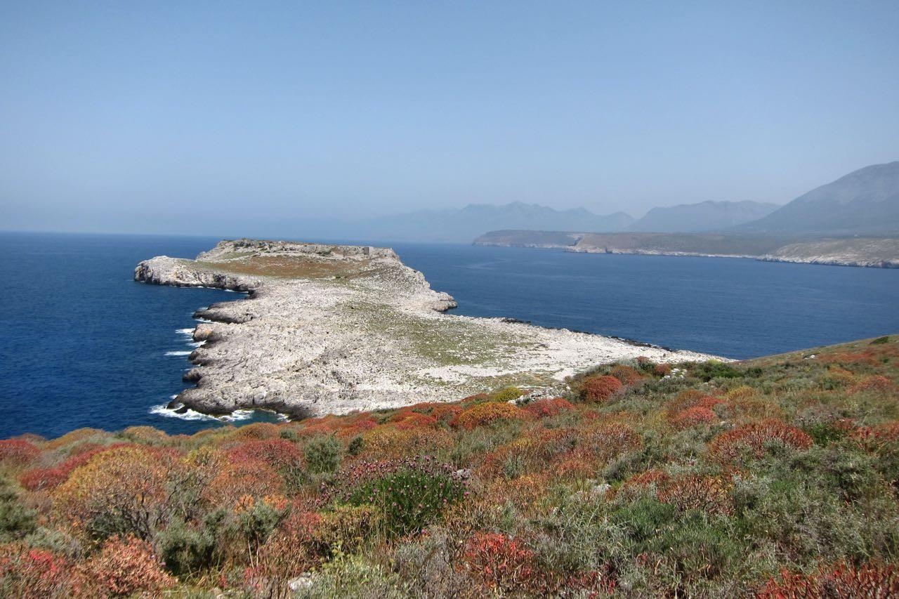 Kap Tigani Peloponnes Küste der Mani