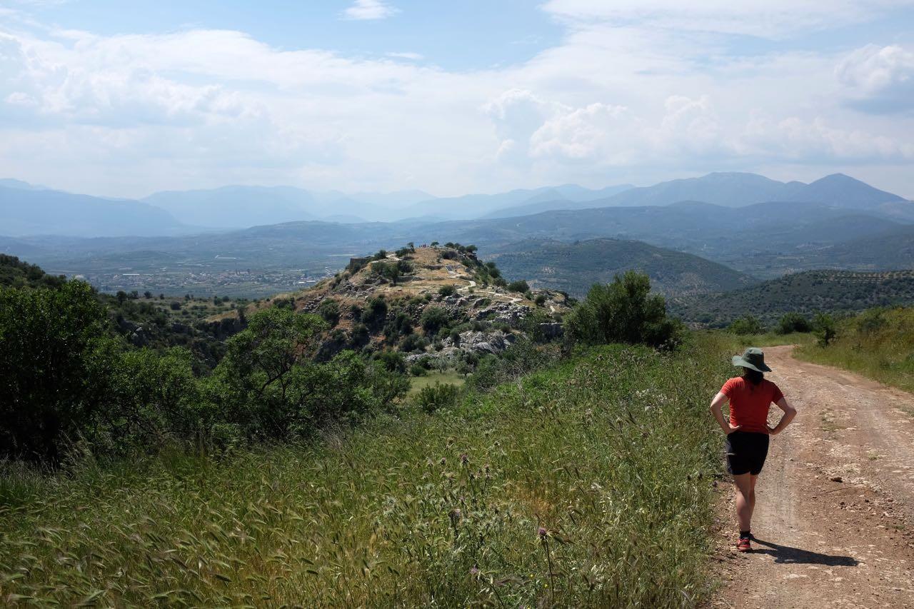 Beginn unserer Wanderung um Mykene, Peloponnes