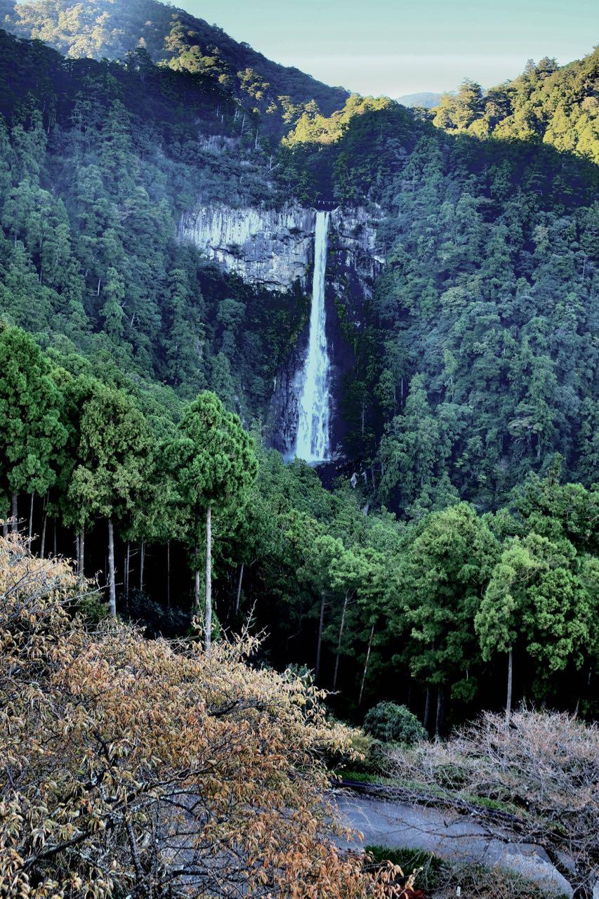 Japans höchster 133m Wasserfall Nachi
