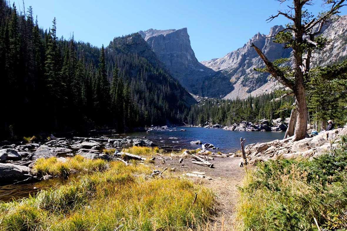Am Bear Lake Rocky Mountain Nationalpark