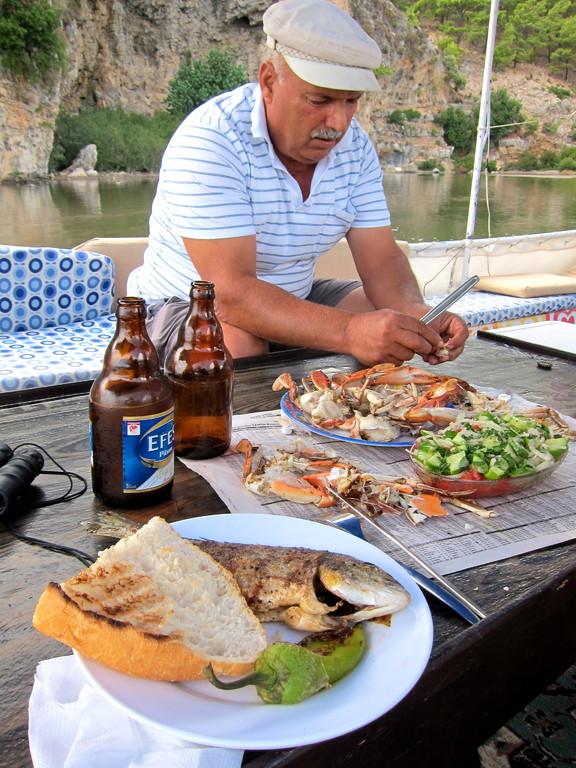 Mittagessen vom Capitano, Dalyan Lykischen Küste