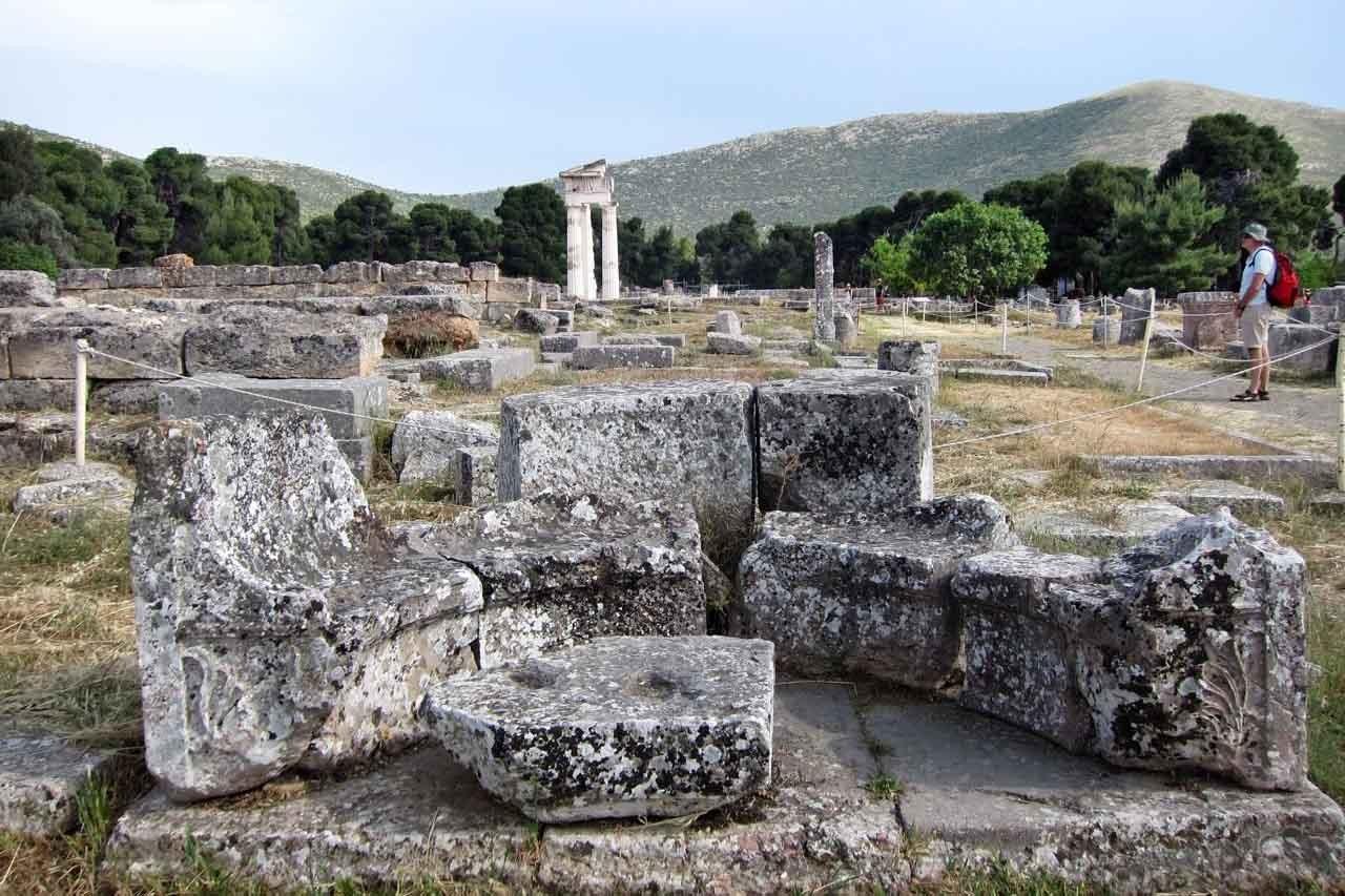 Ausgrabungsgelände Epidauros, Peloponnes