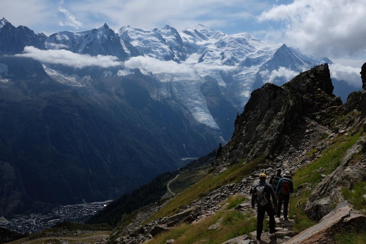 Wanderung auf den Aiguilles Rouges, Chamonix