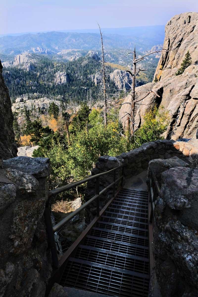 Black Elk Peak Eisentreppen zum Gipfel