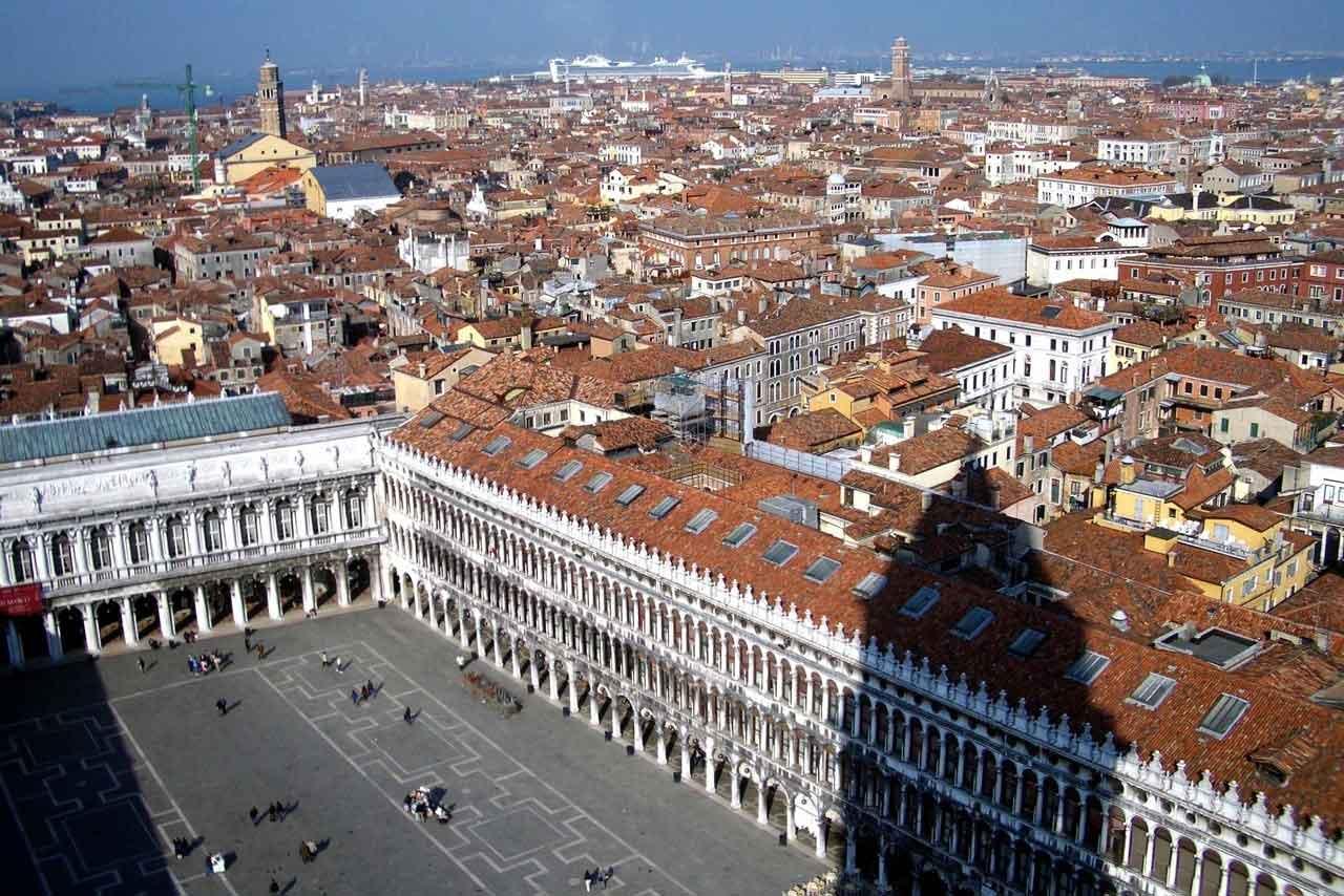 Venedig Markusplatz von oben