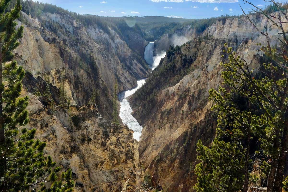 Artist Point Blick auf Yellowstone Lower Falls