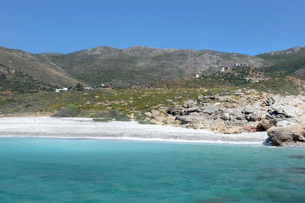 Kapoi Beach einsam im Mai, Mani Peloponnes