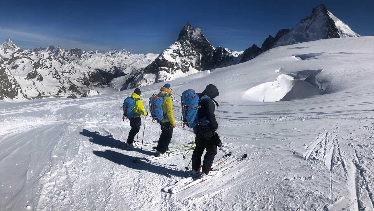 Am Beginn der Megaabfahrt nach Zermatt