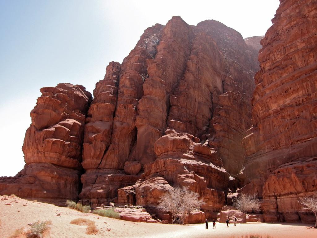 Khazali-Schlucht, Wadi Rum Jordanien