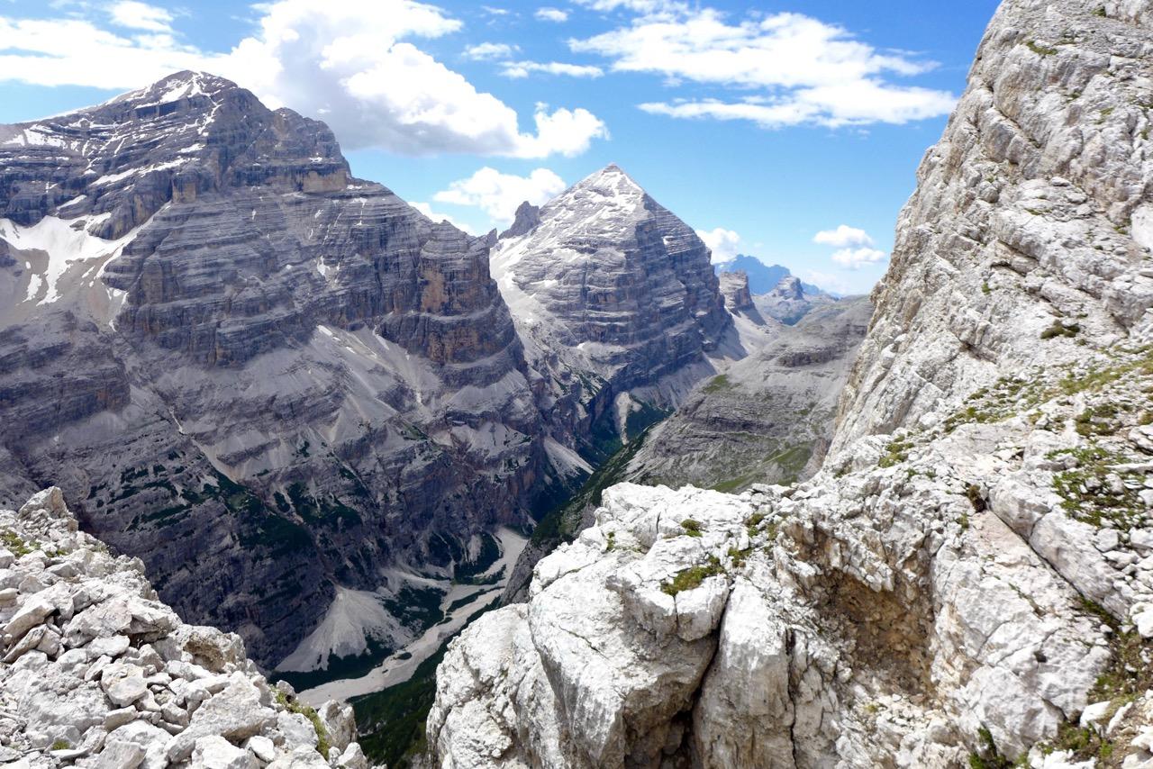 Blick auf die Tofana Berge
