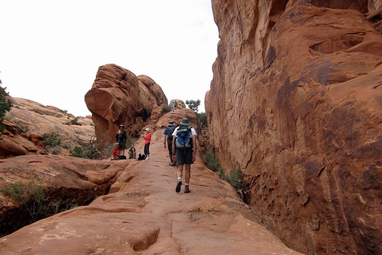 Devils Garden Trail Arches National Park Wanderung