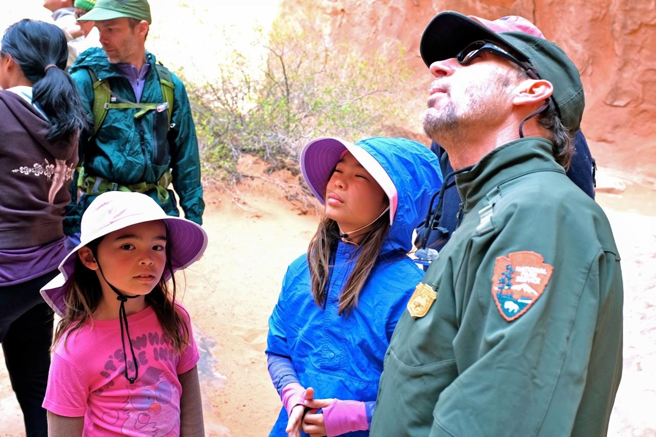 Park Ranger  Fiery Furnace Trail, Arches National Park