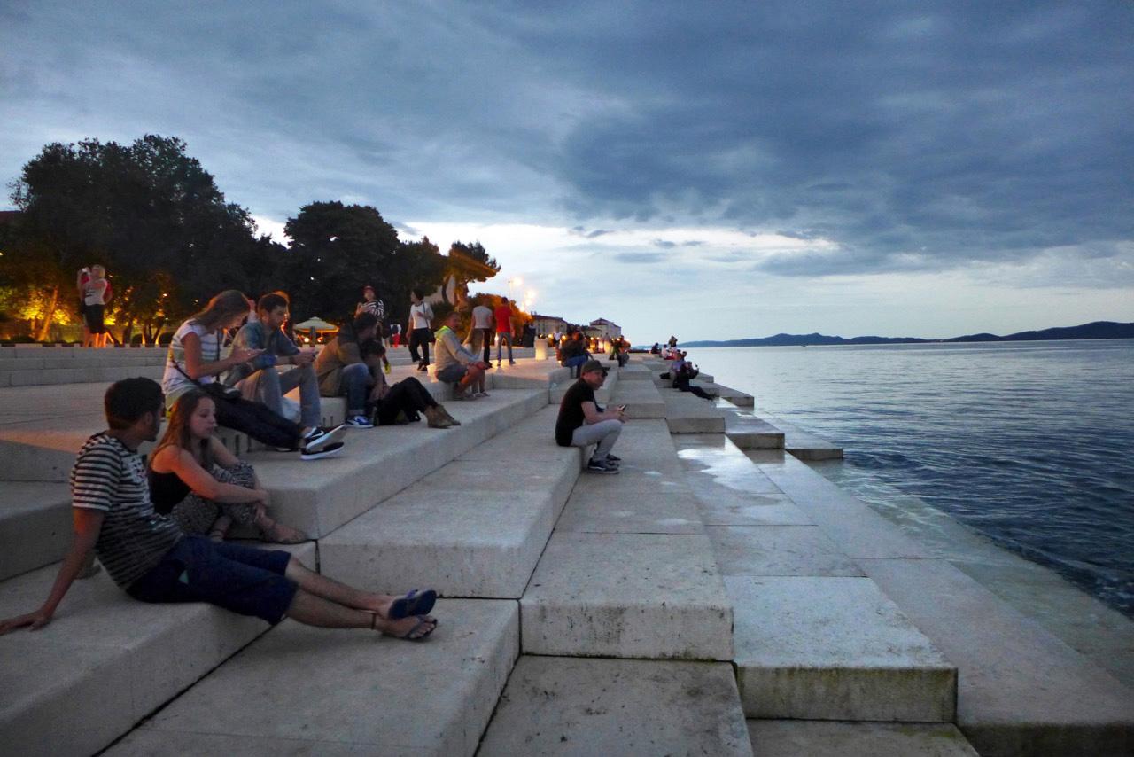 Zadars Meeresorgeln lauschen
