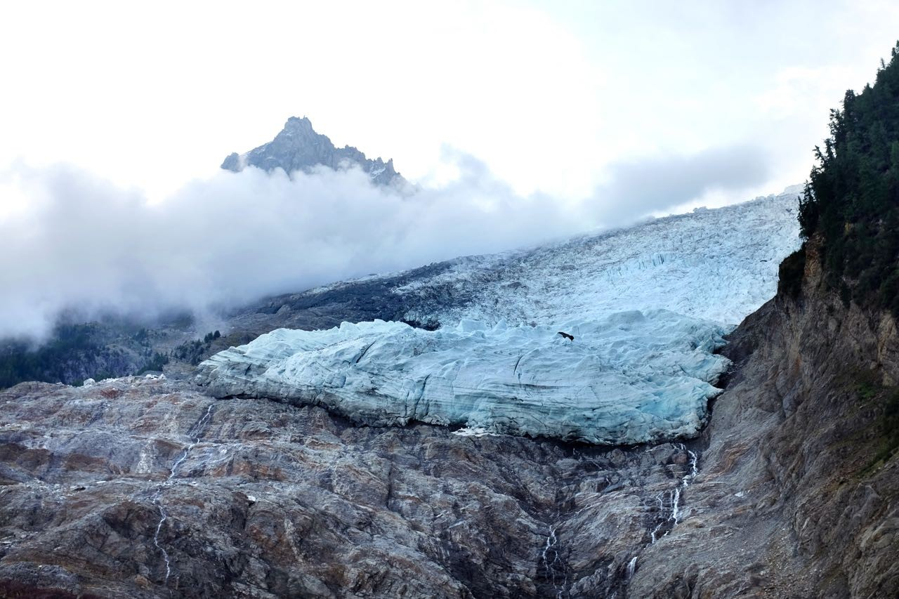 Glacier des Bossons, Chamonix – der am weitesten ins Teil reichende Alpengletscher