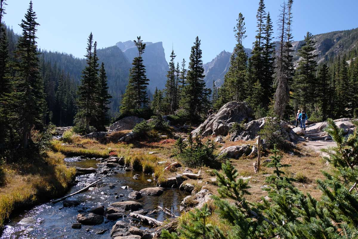 Bear Lake Trail Wanderung im Rocky Mountain Nationalpark