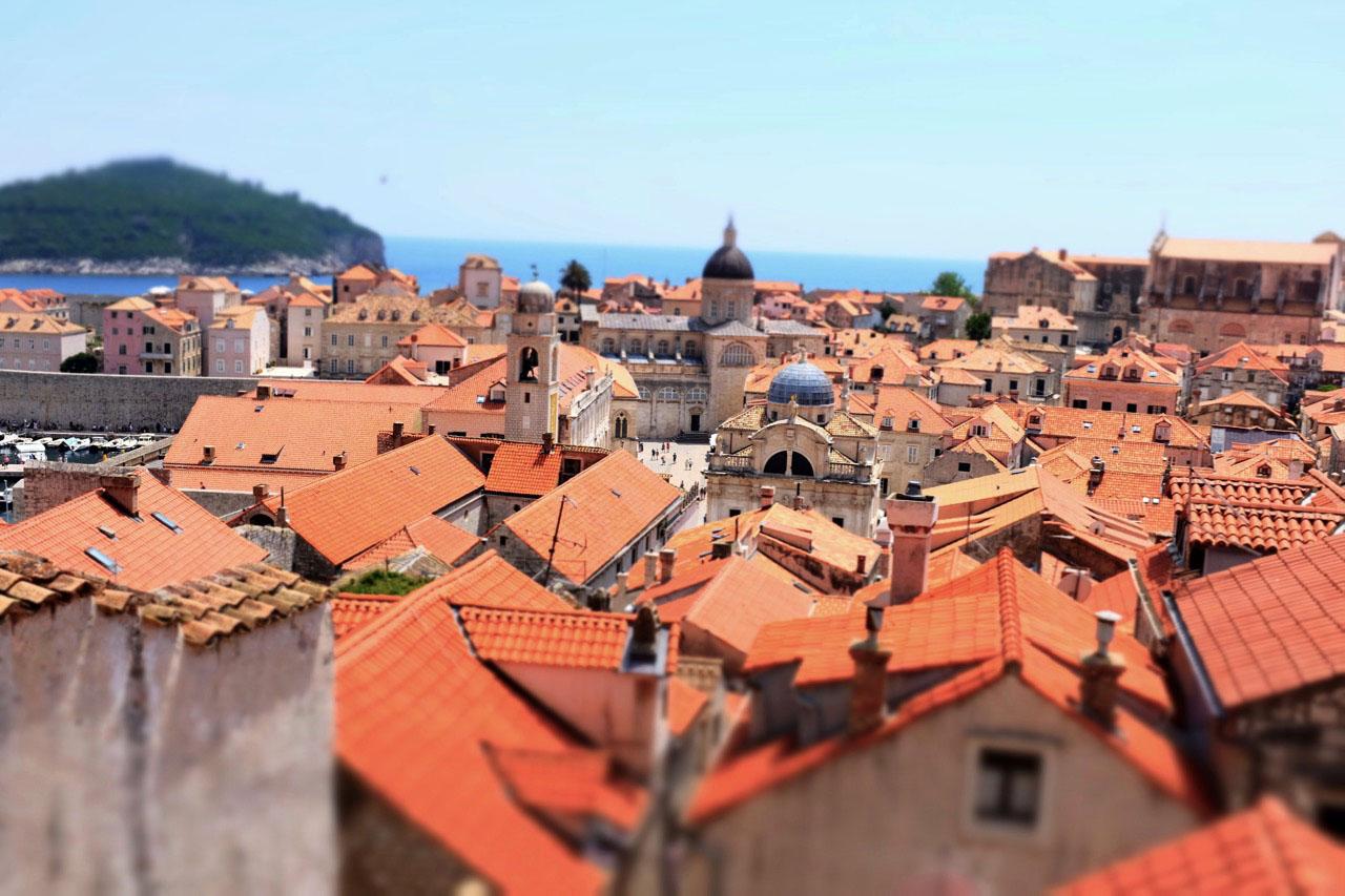 Rotes Dächermeer von Dubrovnik