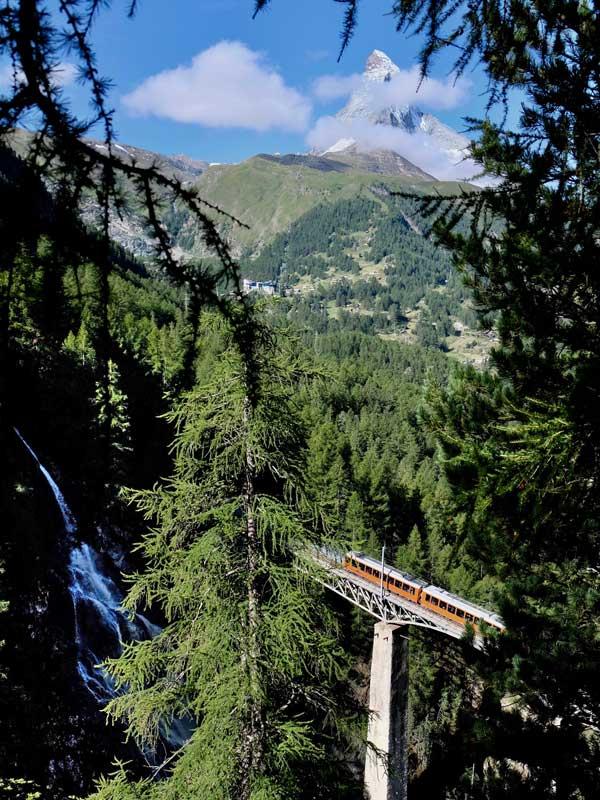 Gornergratbahn Brücke Zermatt