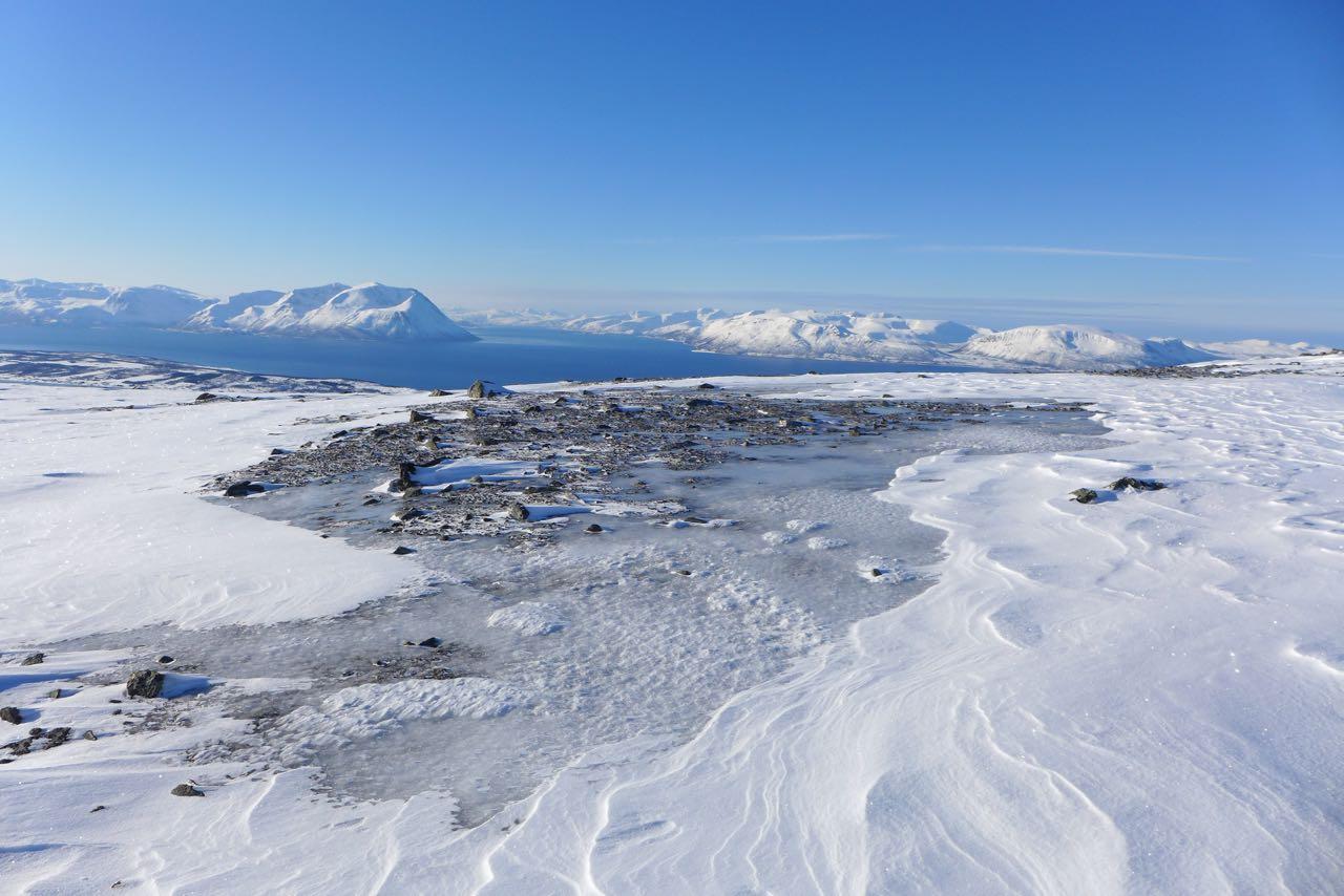 Der abgeblasene Rücken des Rundfjellet - Lyngen Alps