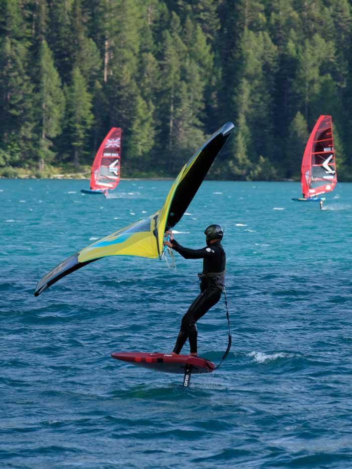 Segel Surfen Engadinwind St. Moritz Silvaplanersee