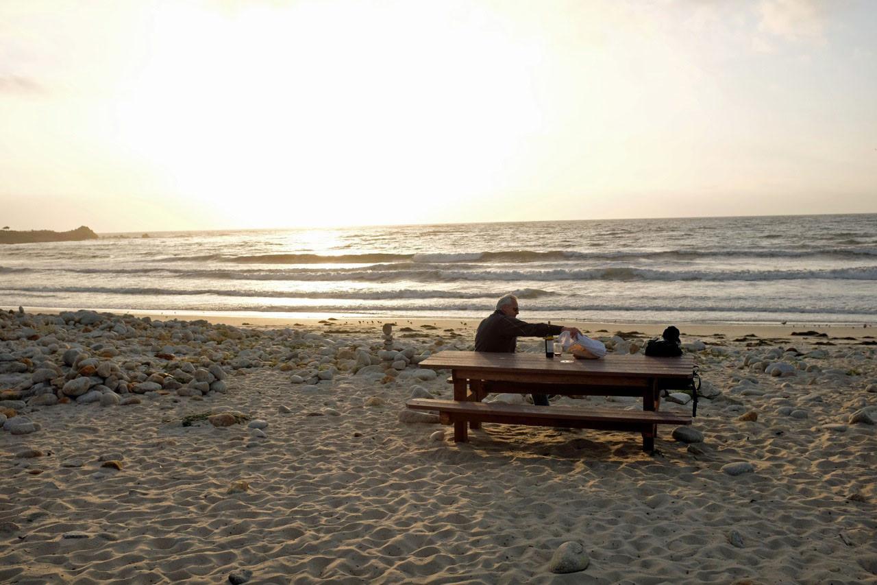 Picknick am Coastal Trail bei Pacific Grove