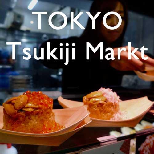 Reisebericht Japan Tokio Tsukij Markt Reiseblog