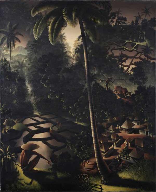 Berge und Teich 1938 von Walter Spies