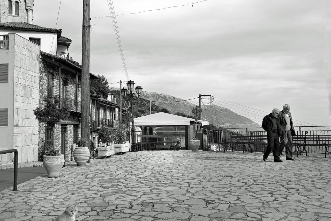 Der Trefpunkt in Dimitsama, Peloponnes