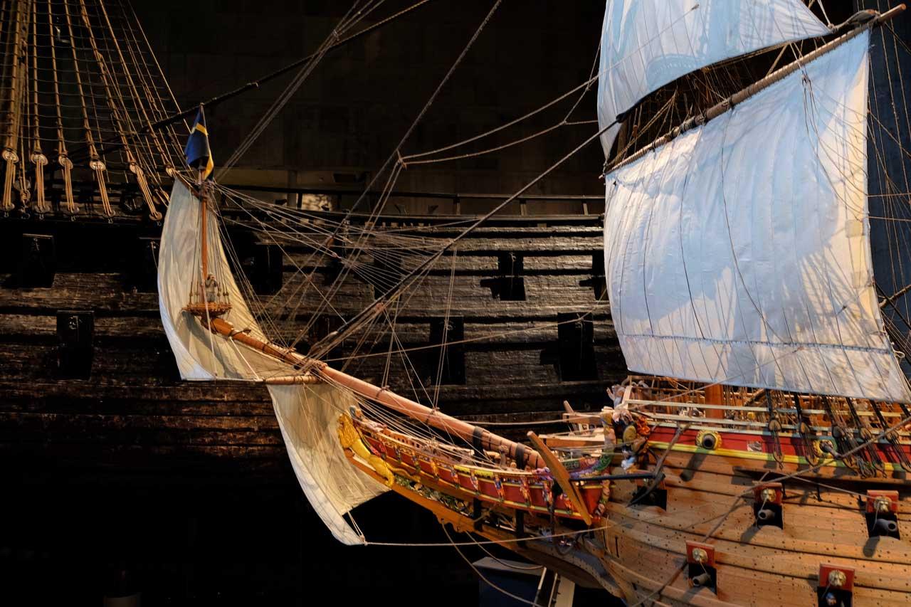 Vasa Schiffsmodell und das Original