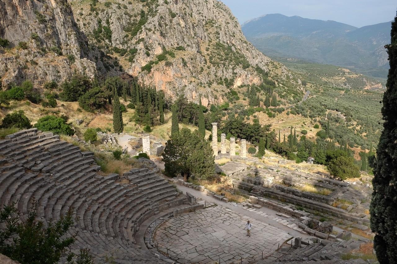 Das Amphitheater von Delphi