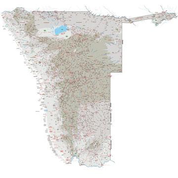 Namibia Online Karte Map