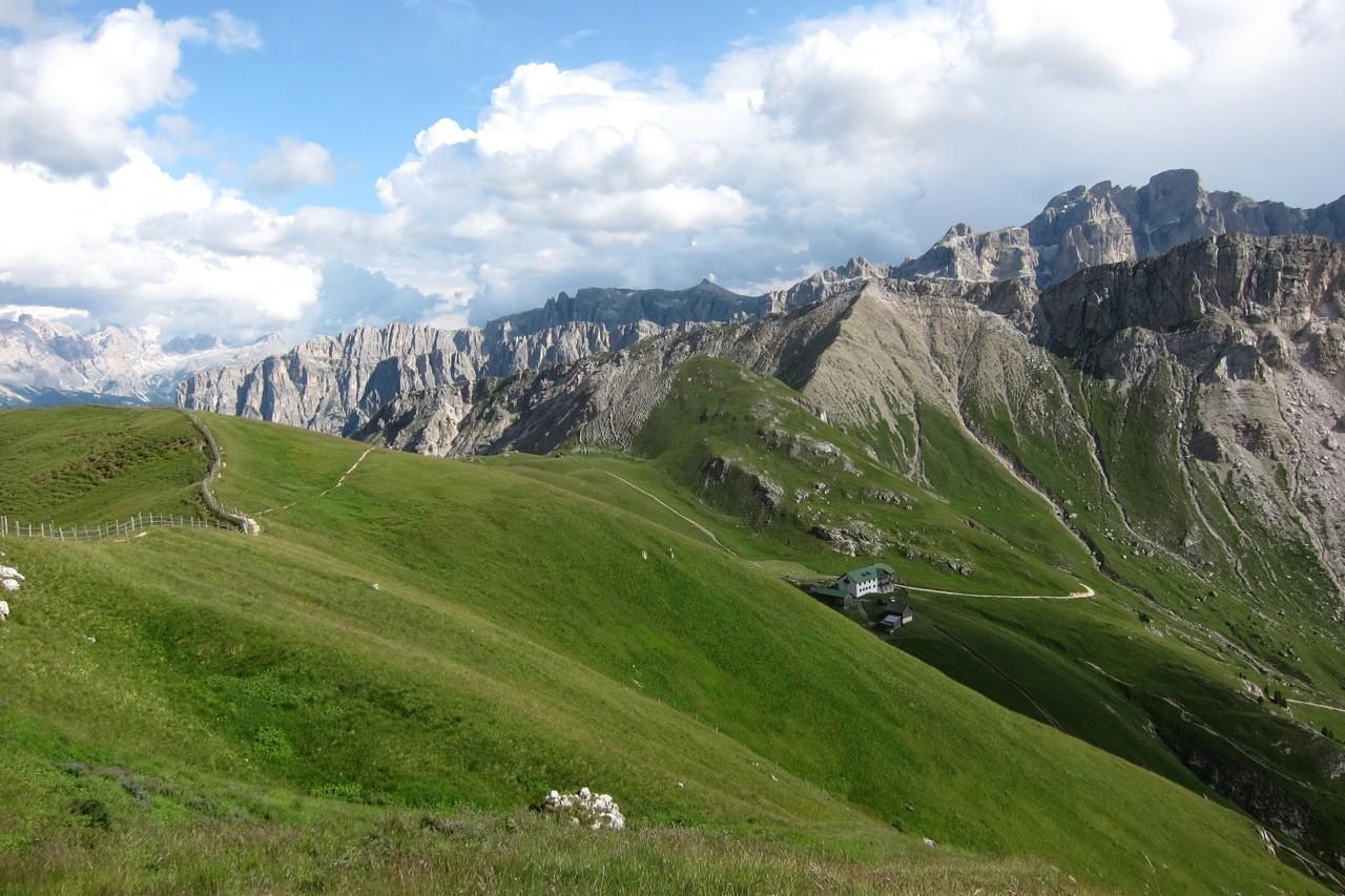 Aufstieg zum Zendleserkofel oberhalb der Schlüterhütte