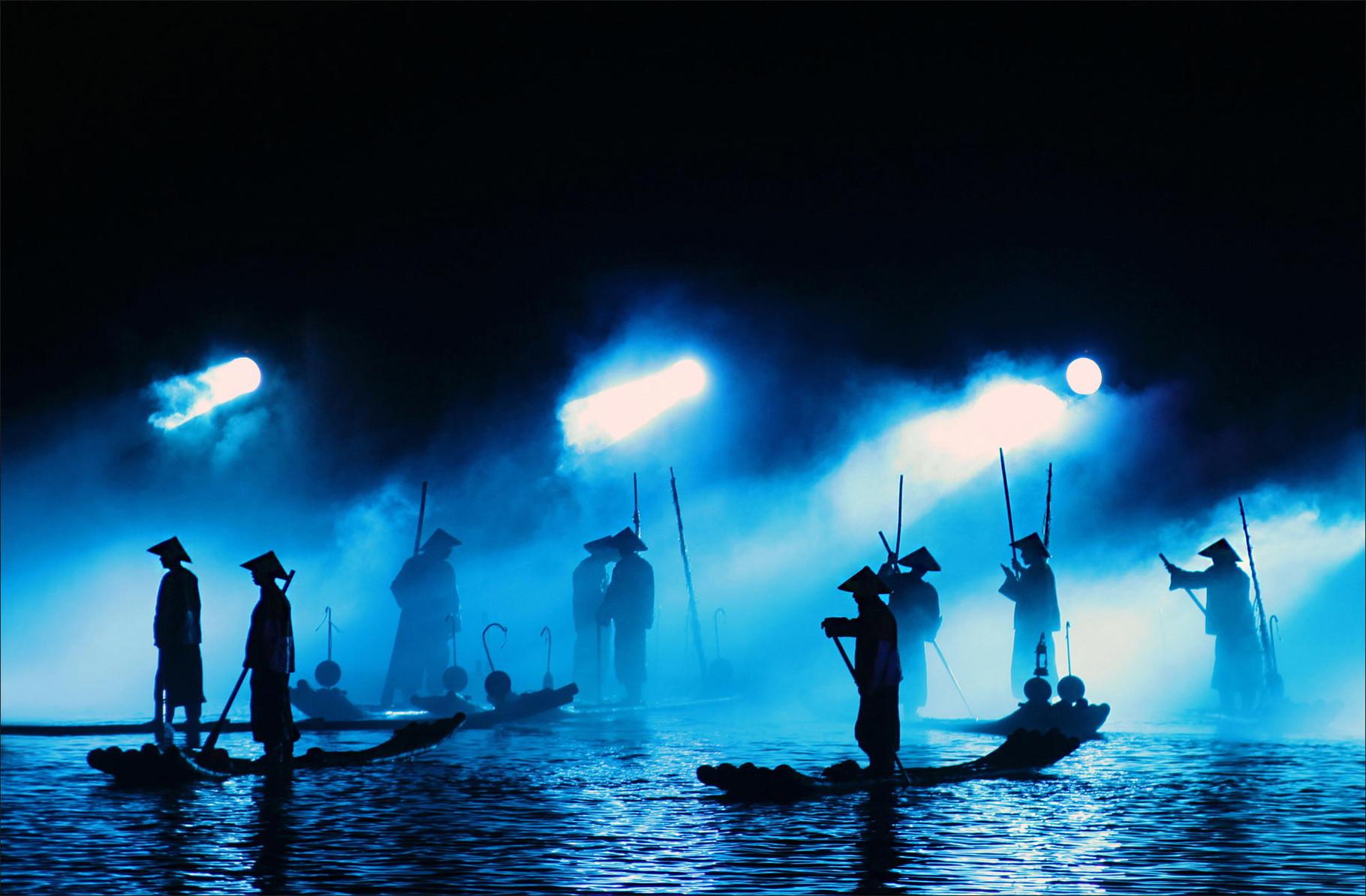 Impressions Sanjie Liu in Yangshuo mit über 600 Akteuren