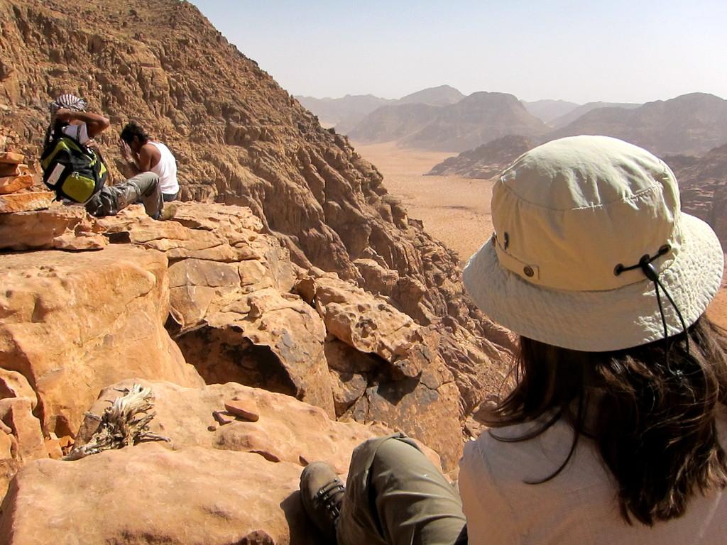 Aufstieg zum höchsten Gipfel Um Ad Dami, 1800m, Wadi Rum Jordanien