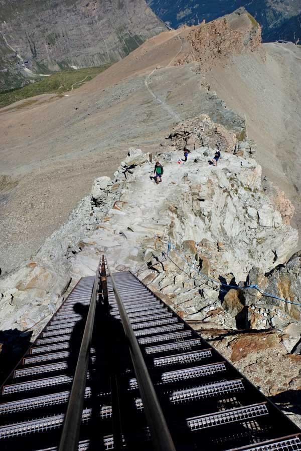 Eisenleiter zur  Hörnlihütte am Matterhorn