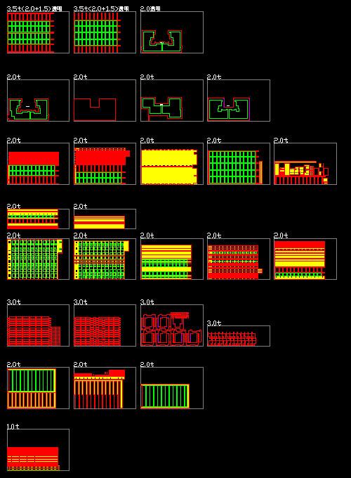 レーザー加工用カットデータ