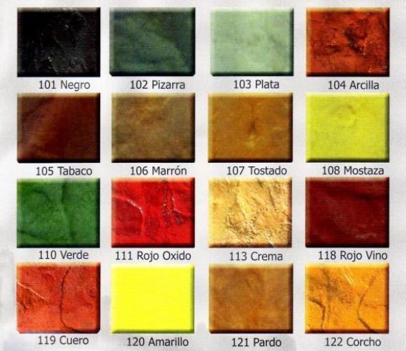 Colores hormigon