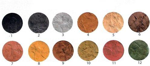 Gama colores por hormigón rayado