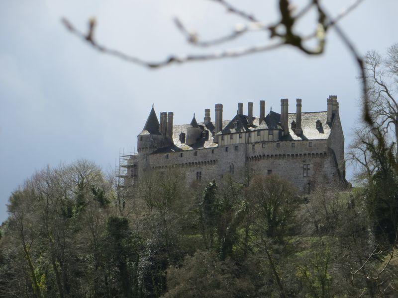 Les toitures du château - La Roche Jagu