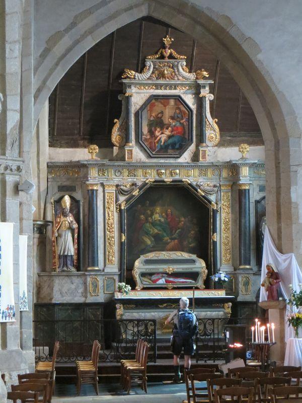 Retable du St Esprit - Eglise St Jean - Lamballe