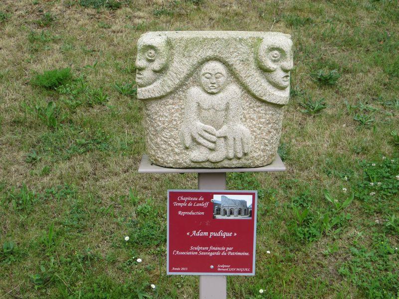 Temple de Lanleff - détail reconstitué
