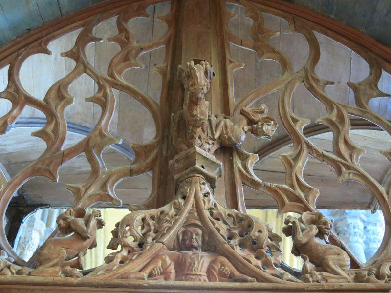 détail jubé - Cathédrale St Etienne  - Lamballe