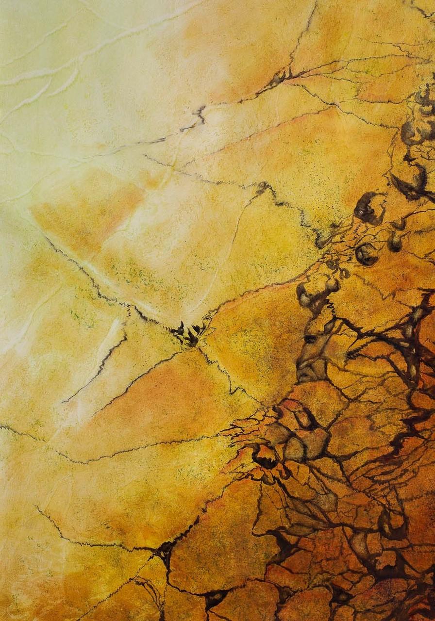 Imitation marbre Jaune de Sienne - Pascale Richert
