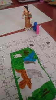 Nous nous servons des pions de Dixit, notre jeu favori, et d'une figurine pour nous représenter.