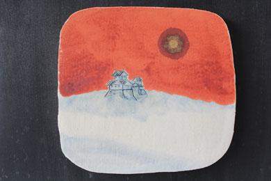 天空の城(陶板)№5アップ