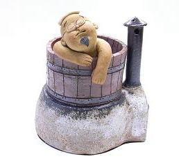 山頭火の香炉「ファー、いい気持ち」正面