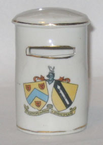 WARWICKSHIRE OVAL PILLAR BOX: STRATFORD ON AVON Crest on Front. 88mm High. No Maker.
