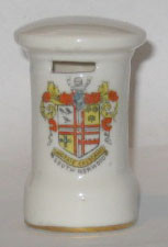 LONDON PILLAR BOX: SOUTH NORWOOD Crest on Front. 71mm High. No Maker.