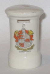 YORKSHIRE PILLAR BOX: HARROGATE Crest on Front. 71mm High. No Maker.